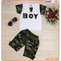 Bộ bé trai lính Boy cá tính cho bé ngày hè