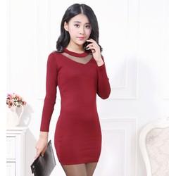 Đầm len nữ kiểu dáng đơn giản, thiết kế thời thượng-11268041