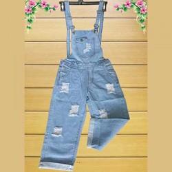 Quần Yếm Jeans Rách Dài Xanh Nhạt_GS130