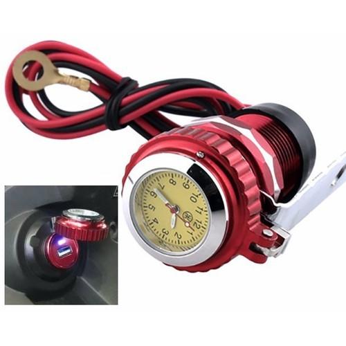Sạc điện thoại kiêm đồng hồ gắn xe máy - 5585044 , 9418032 , 15_9418032 , 275000 , Sac-dien-thoai-kiem-dong-ho-gan-xe-may-15_9418032 , sendo.vn , Sạc điện thoại kiêm đồng hồ gắn xe máy