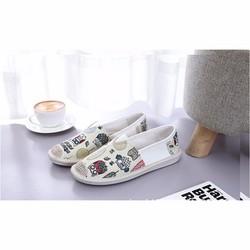 Giày lười nữ họa tiết