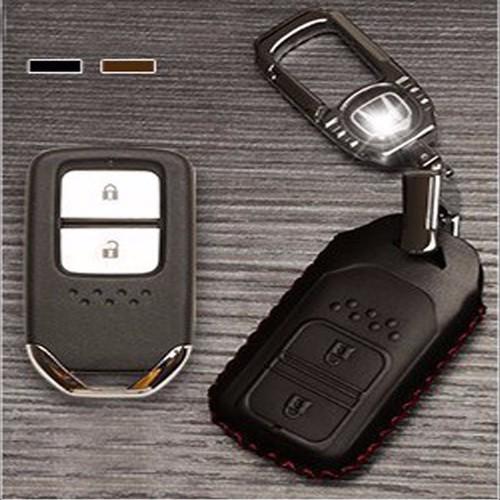 Móc khóa ô tô | Bao da bọc chìa khóa ô tô Honda 2 nút