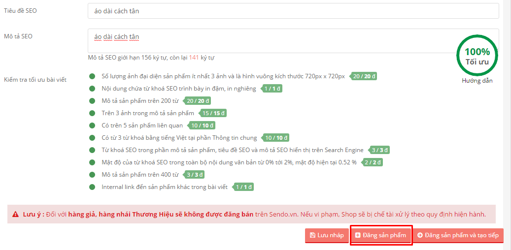 Hướng dẫn làm SEO trên Sendo để bán hàng hiệu quả - SEO TỐT HỐT TRỌN TOP TÌM KIẾM - image QiIePc on https://congdongdigitalmarketing.com