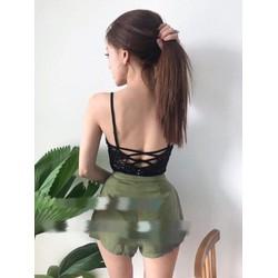 Set quần short áo ren bodysuit _MÕ CHU SHOP