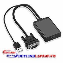 Cáp chuyển đổi VGA to HDMI Audio đen chính hãng UGREEN 40213