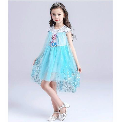 V27 Váy Elsa cho bé