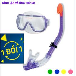 kính lặn và ống thở