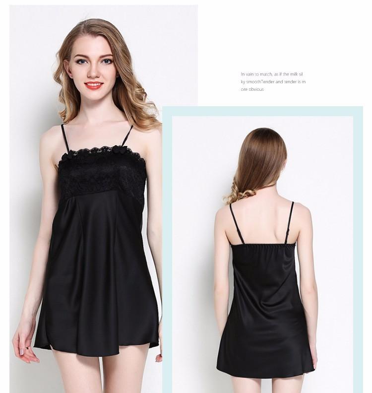 Áo choàng kèm váy ngủ gợi cảm TK836 đen 3