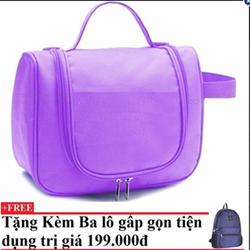Túi đựng đồ cá nhân du lịch Violet Kèm balo du lịch gấp gọn