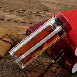 Bình nước thủy tinh 2  lớp chịu nhiệt pha trà 500ml