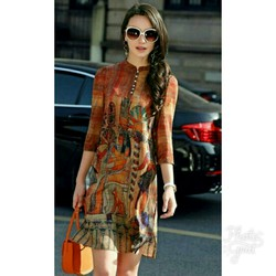 Đầm suông họa tiết Ai Cập