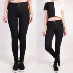 Quần Jeans Nữ Đen Lưng Cao GS140