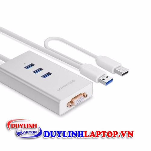 Cáp chuyển USB 3.0 to VGA + 3 cổng USB 3.0 chính hãng UGREEN 40256