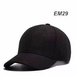 Mũ nón lưỡi trai cao cấp đen