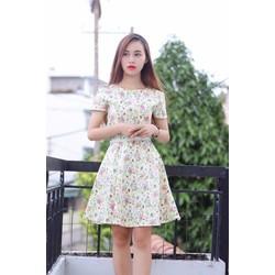 Đầm xòe hoa cực xinh- 1098835