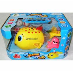 đồ chơi cá Nemo chạy vẫy đuôi, thổi banh, có đèn nhạc và bạch tuộc