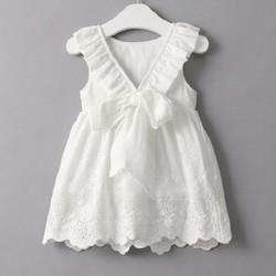 Đầm bé gái vải đẹp y hình 2- 5 tuổi