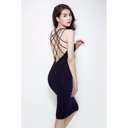 Đầm hở lưng đẹp thiết kế ôm body sang trọng như Ngọc Trinh