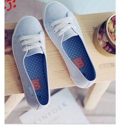 giày slip on nữ 2 màu trắng ,xanh
