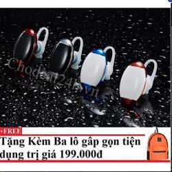 Tai nghe Bluetooth Mini giọt nước CDTB02 Blue White Kèm balo du lịch