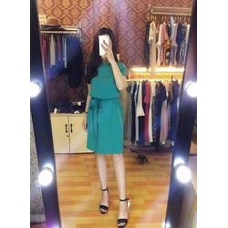 Đầm nơ thắt eo cao cấp-1099367