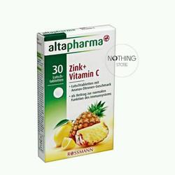 Viên uống bổ sung Kẽm và Vitamin C Altapharma hộp 30v hàng của đức