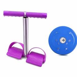 Bộ dụng cụ tập cơ bụng và đĩa xoay eo giảm cân 360 độ