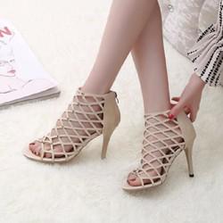 Sandal cao gót dây chéo - SD010