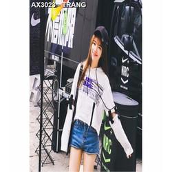 áo hoodie crop top name Mã: AX3023 - TRẮNG