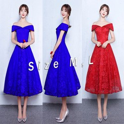 Đầm ren xòe dáng dài trể vai xinh xắn
