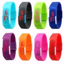 Đồng hồ led dây nhựa cực đẹp - đồng hồ led thời trang