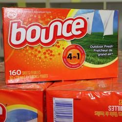 Giấy Thơm Quần Áo Bounce Mỹ 160 Tờ