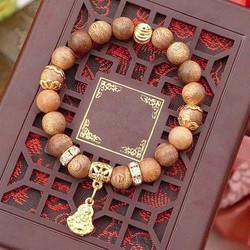 Vòng tay gỗ trầm hương - mix thần tài