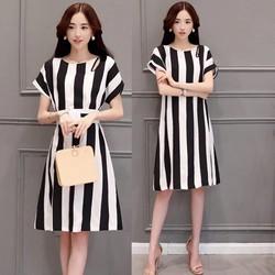 Đầm suông kẻ sọc tôn dáng - hàng nhập Quảng Châu cao cấp