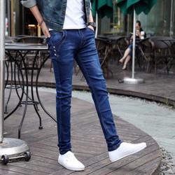 Quần jeans nam ống côn túi chéo cực đẹp -QJ41