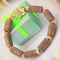 Vòng tay gỗ trầm hương - mix tỳ hưu