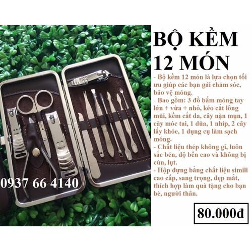 Bộ 12 món Inox dụng cụ làm đẹp làm móng tay - 4352092 , 6060647 , 15_6060647 , 80000 , Bo-12-mon-Inox-dung-cu-lam-dep-lam-mong-tay-15_6060647 , sendo.vn , Bộ 12 món Inox dụng cụ làm đẹp làm móng tay
