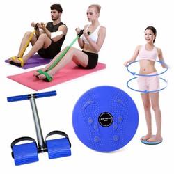 Bộ dụng cụ tập cơ bụng và đĩa xoay eo giảm cân 360 độ BenHome