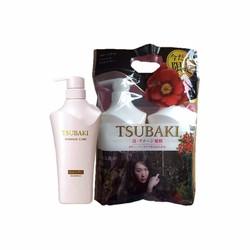 Bộ dầu gội và dầu xả Tsubaki Damage Care dành cho tóc hư tổn 500ml
