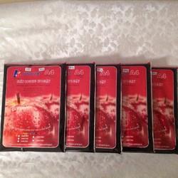 Combo 5 tập giấy in chính hãng Kim Mai 2 mặt bóng A4 định lượng 260g