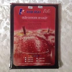 Giấy in ảnh, in card chính hãng Kim Mai 2 mặt bóng A4 định lượng 200g