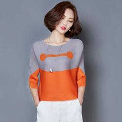 Hàng nhập cao cấp: Áo kiểu phối màu cực chất T184