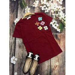 Áo thun 5 hoa màu tay con hàng nhập- MS: S190674  Gs: 115k