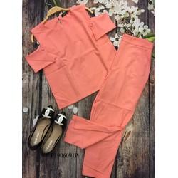 Set áo khoét vai quần tay dài hàng thiết kế- MS: S190676 Gs: 190k