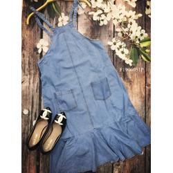 Đầm Jean cổ yếm 2 túi đuôi cá hàng thiết kế - MS: S190670 Gs: 150k