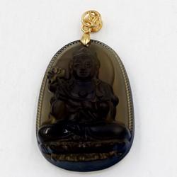Mặt dây chuyền Đại Thế Chí Bồ Tát Obsidian