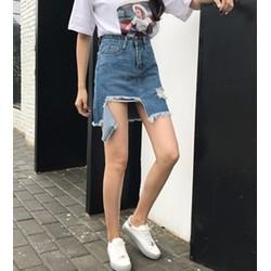 chân váy bò cạp cao rách Mã: VN562