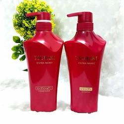 Bộ dầu gội và dầu xả Tsubaki Extra Moist dành cho tóc hư tổn 500ml