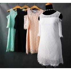 Đầm ren rớt vai