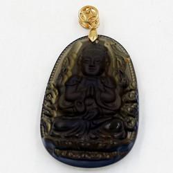 Mặt dây chuyền Thiên Thủ Thiên Nhãn Obsidian